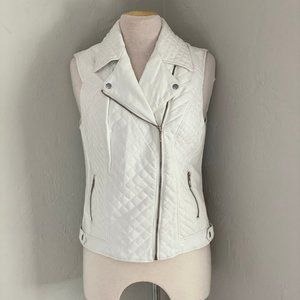 Super cute white zip up vest